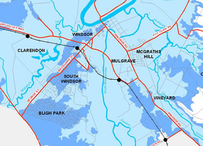 Flood Extent Map - South